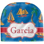 Boats & Palm Trees Baby Hat (Beanie) (Personalized)