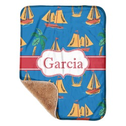 "Boats & Palm Trees Sherpa Baby Blanket 30"" x 40"" (Personalized)"