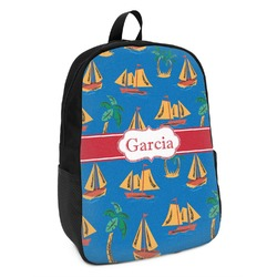 Boats & Palm Trees Kids Backpack (Personalized)