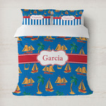 Boats & Palm Trees Duvet Cover (Personalized)