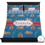Boats & Palm Trees Duvet Cover Set (Personalized)