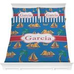 Boats & Palm Trees Comforter Set (Personalized)