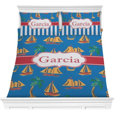 Boats & Palm Trees Comforters (Personalized)