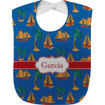Boats & Palm Trees Baby Bib (Personalized)