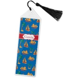 Boats & Palm Trees Book Mark w/Tassel (Personalized)