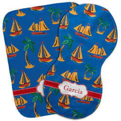 Boats & Palm Trees Burp Cloth (Personalized)