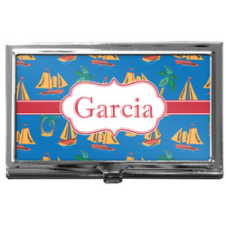 Boats & Palm Trees Business Card Case