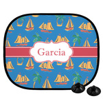 Boats & Palm Trees Car Side Window Sun Shade (Personalized)