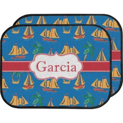 Boats & Palm Trees Car Floor Mats (Back Seat) (Personalized)