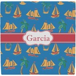 Boats & Palm Trees Ceramic Tile Hot Pad (Personalized)