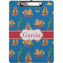 Boats & Palm Trees Clipboard (Personalized)