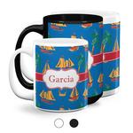 Boats & Palm Trees Coffee Mugs (Personalized)
