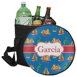 Boats & Palm Trees Collapsible Cooler & Seat (Personalized)