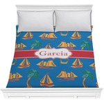 Boats & Palm Trees Comforter (Personalized)