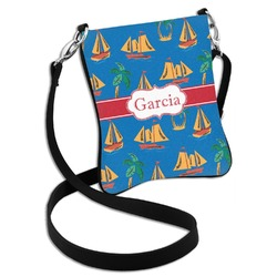 Boats & Palm Trees Cross Body Bag - 2 Sizes (Personalized)