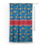 Boats & Palm Trees Curtain (Personalized)