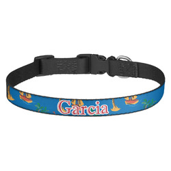 Boats & Palm Trees Dog Collar (Personalized)