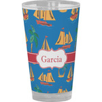 Boats & Palm Trees Drinking / Pint Glass (Personalized)
