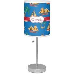 """Boats & Palm Trees 7"""" Drum Lamp with Shade (Personalized)"""