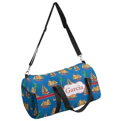 Boats & Palm Trees Duffel Bag (Personalized)