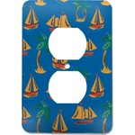 Boats & Palm Trees Electric Outlet Plate (Personalized)
