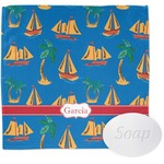 Boats & Palm Trees Wash Cloth (Personalized)