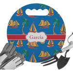 Boats & Palm Trees Gardening Knee Cushion (Personalized)