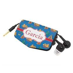 Boats & Palm Trees Genuine Leather Cord Wrap (Personalized)