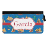 Boats & Palm Trees Genuine Leather Ladies Zippered Wallet (Personalized)