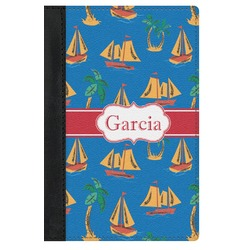 Boats & Palm Trees Genuine Leather Passport Cover (Personalized)