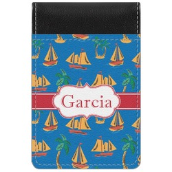 Boats & Palm Trees Genuine Leather Small Memo Pad (Personalized)