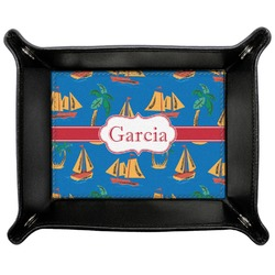 Boats & Palm Trees Genuine Leather Valet Tray (Personalized)