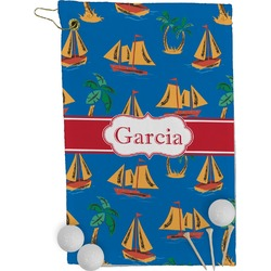 Boats & Palm Trees Golf Towel - Full Print (Personalized)