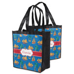 Boats & Palm Trees Grocery Bag (Personalized)