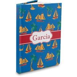 Boats & Palm Trees Hardbound Journal (Personalized)