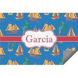 Boats & Palm Trees Indoor / Outdoor Rug (Personalized)