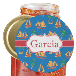 Boats & Palm Trees Jar Opener (Personalized)
