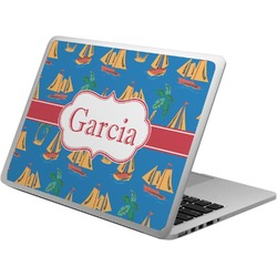 Boats & Palm Trees Laptop Skin - Custom Sized (Personalized)