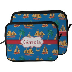 Boats & Palm Trees Laptop Sleeve / Case (Personalized)