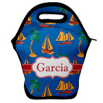 Boats & Palm Trees Lunch Bag w/ Name or Text