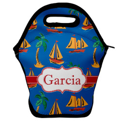 Boats & Palm Trees Lunch Bag (Personalized)