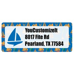 Boats & Palm Trees Return Address Label (Personalized)