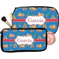 Boats & Palm Trees Makeup / Cosmetic Bag (Personalized)