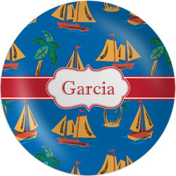 Boats & Palm Trees Melamine Plate - 8