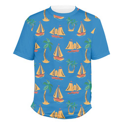 Boats & Palm Trees Men's Crew T-Shirt (Personalized)