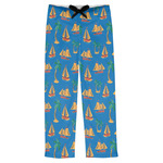 Boats & Palm Trees Mens Pajama Pants (Personalized)