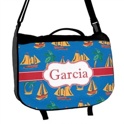 Boats & Palm Trees Messenger Bag (Personalized)