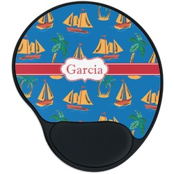 Boats & Palm Trees Mouse Pad with Wrist Support