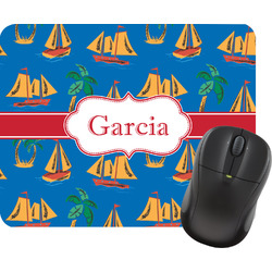 Boats & Palm Trees Mouse Pad (Personalized)