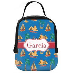Boats & Palm Trees Neoprene Lunch Tote (Personalized)